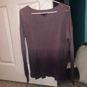 AEO purple ombré sweater